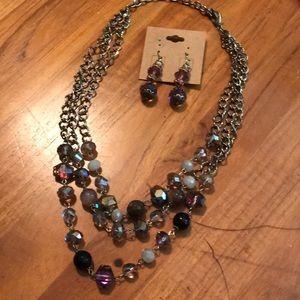 Swarovski element Necklace & Earrings Set